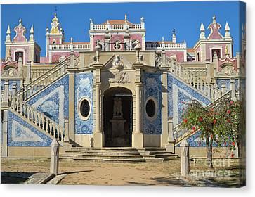 Palacio De Estoi Front View Canvas Print by Angelo DeVal