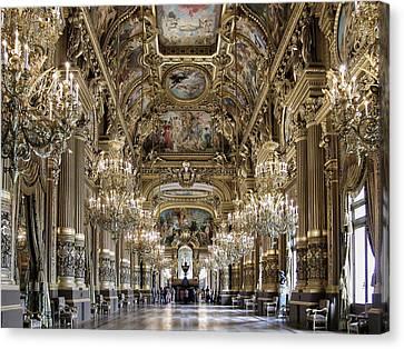 Palais Garnier Grand Foyer Canvas Print by Alan Toepfer