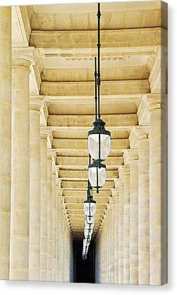 Palais-royal Arcade - Paris, France Canvas Print by Melanie Alexandra Price