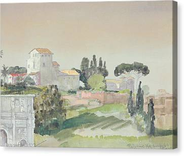 Italian Landscape Canvas Print - Palatine Hill From The Colosseum by Arthur Bowen Davies