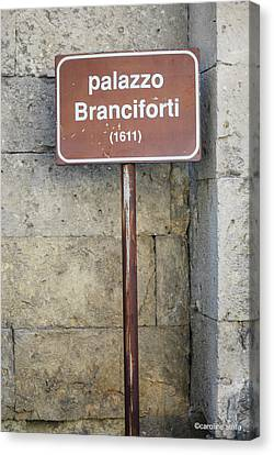 palazzo Branciforte 1611 Canvas Print by Caroline Stella