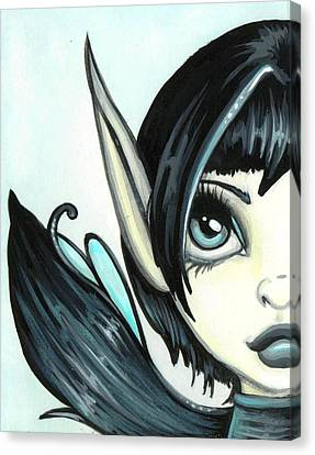 Pale Blue Fae Canvas Print by Elaina  Wagner