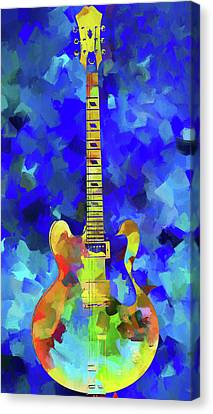 Palette Knife Colorful Guitar Canvas Print by Dan Sproul