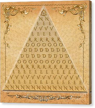 Palindrome Pyramid V1-decorative Canvas Print
