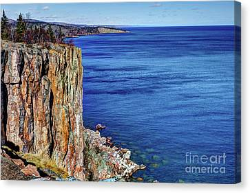 Palisade Head Tettegouche State Park North Shore Lake Superior Mn Canvas Print by Wayne Moran