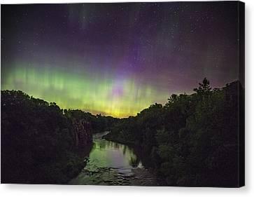Palisades Aurora Canvas Print by Aaron J Groen