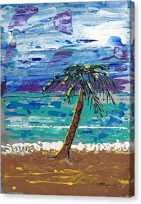 Canvas Print featuring the painting Palm Beach by J R Seymour