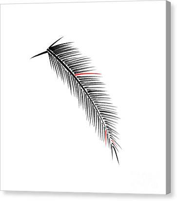 Red Leaf Canvas Print - Palm Branch by Konstantin Sevostyanov