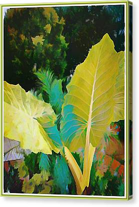 Canvas Print featuring the painting Palm Branches by Mindy Newman