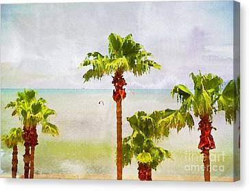 Palm Breeze Canvas Print by Ken Williams
