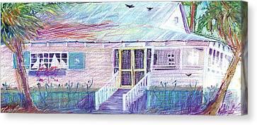 Palm Cottage Canvas Print