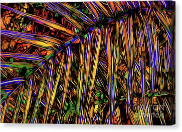 Palm Frond Batik Canvas Print by Judi Bagwell