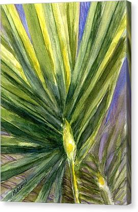 Canvas Print featuring the painting Palm Frond by Marilyn Barton