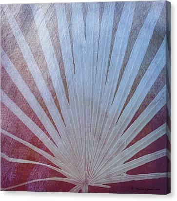 Palm Frond-rust Canvas Print