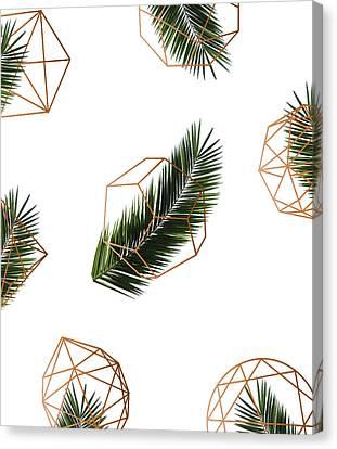 Palm Geometry Canvas Print