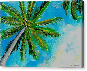 Palm In The Sky Canvas Print