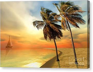 Palm Island Canvas Print by Corey Ford