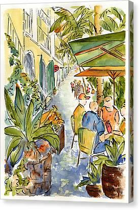 Palm Passage Canvas Print