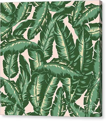 Beach Canvas Print - Palm Print by Lauren Amelia Hughes