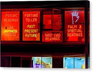 Palm Reading Windows Canvas Print by Garry Gay