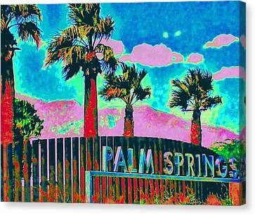 Palm Springs Gateway Three Canvas Print by Randall Weidner