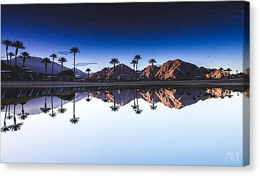 Abstract Palm Trees Canvas Print - Palm Springs Reflection by Andrew Mason