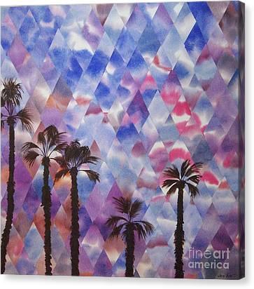 Palm Springs Sunset Canvas Print by Jeni Bate