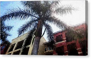 Palm Tree Art Canvas Print