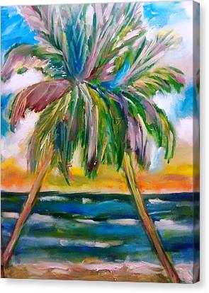 Patricia Taylor Canvas Print - Palm Tree Color Times Two by Patricia Taylor