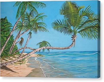 Palm Tree Canvas Print by Edward Maldonado