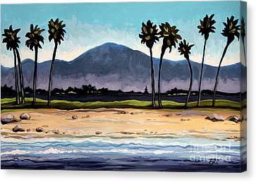 Palm Tree Oasis Canvas Print by Elizabeth Robinette Tyndall