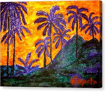 Palm Trees In Paradise Canvas Print by Felix Zapata