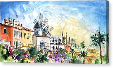 Palma De Mallorca Panoramic 03 Canvas Print