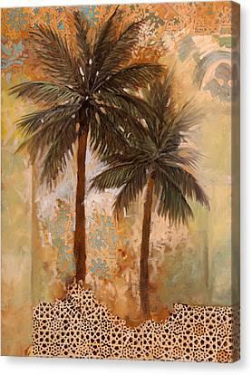 Palme Sparse Canvas Print by Guido Borelli