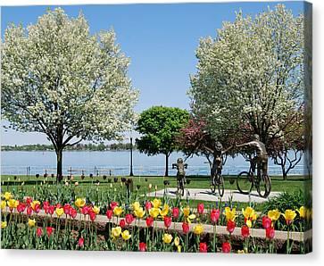 Palmer Park In Spring Canvas Print