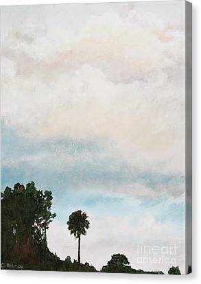 Palmetto Dawn  Canvas Print by Carla Dabney