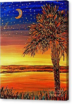 Palmetto Sunset  Canvas Print by Patricia L Davidson