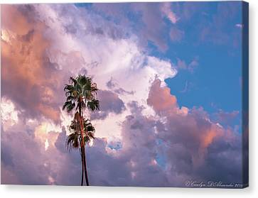 Canvas Print featuring the photograph Palms At Sunset by Carolyn Dalessandro
