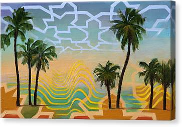Canvas Print featuring the painting Oasis by Dave Platford