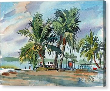 Palms On Sanibel Canvas Print by Donald Maier