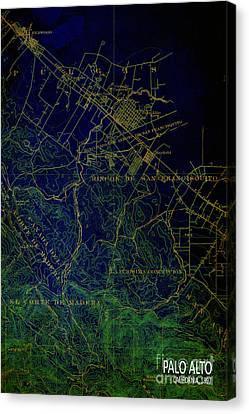 Palo Alto Map 1897 Canvas Print