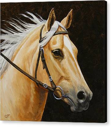 Palomino Horse Portrait Canvas Print