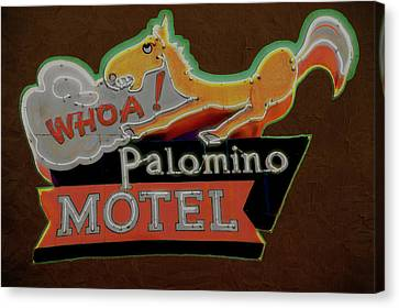 Canvas Print featuring the photograph Palomino Motel by Jeff Burgess