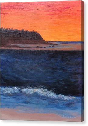 Canvas Print featuring the painting Palos Verdes Sunset by Jamie Frier