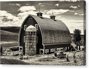 Palouse Icon In Sepia Canvas Print by Mark Kiver