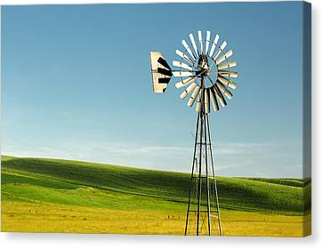 Palouse Windmill Canvas Print by Todd Klassy