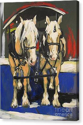 Canvas Print featuring the painting Pals by Debora Cardaci
