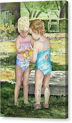 Pals Share Canvas Print by Sam Sidders