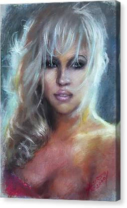With Canvas Print - Pamela Anderson by Ylli Haruni