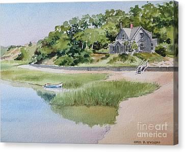 Pamet Harbor Cottage Canvas Print by Karol Wyckoff